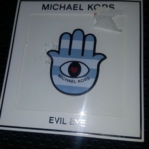 💜5/$35Michael Kors leather sticker evil eye